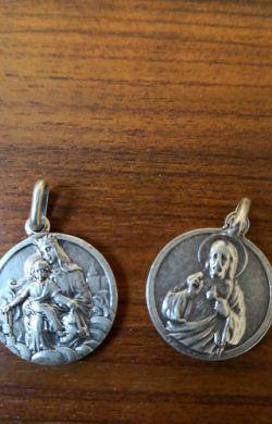 Médaille scapulaire métal argenté
