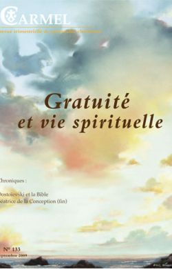 Gratuité et vie spirituelle (n°133)